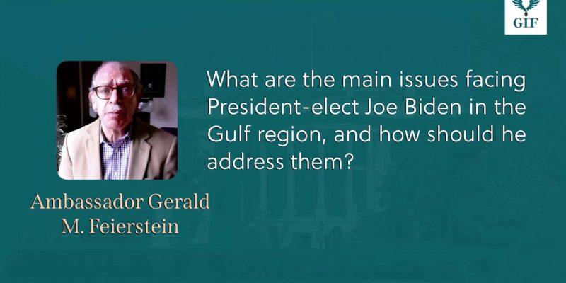 Ambassador Gerald Feierstein Explains the Main Issue Facing President-elect...