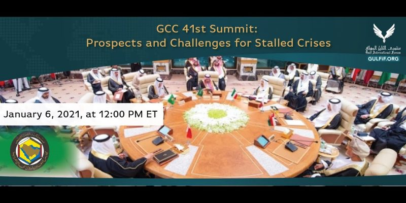 GCC 41st Summit: Prospects and Challenges for Stalled Crises